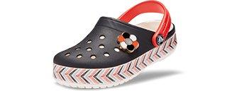 Kids' Drew Barrymore Crocs Crocband Chevron Clog