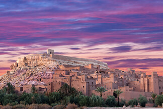 Experience the Moroccan desert and explore the Atlas Mountains
