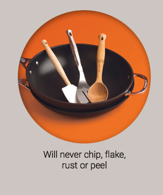 will never chip, flake-rust or peel