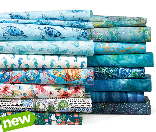 Novelty and Quilters Batiks Cotton Prints.
