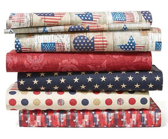 Patriotic Cotton Fabrics.