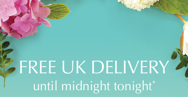 FREE UK DELIVERY until midnight tonight*