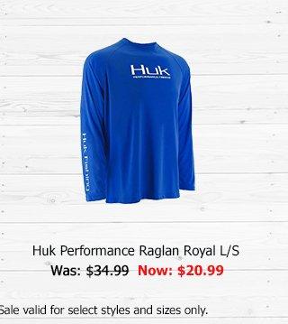 Huk Performance Raglan Royal L/S