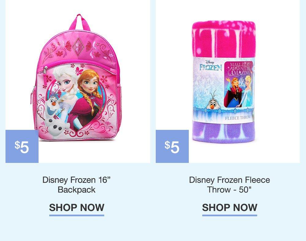 $5 Disney Frozen Backpack. $6 Frozen Swirling Storm Kids Gown.