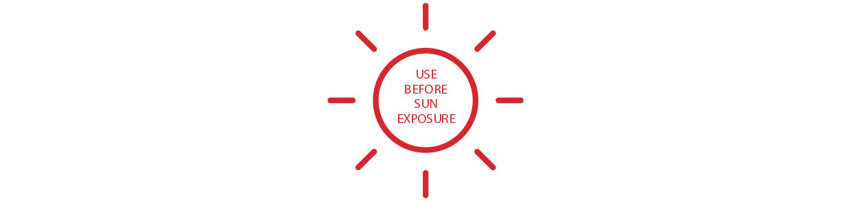 USE BEFORE SUN EXPOSURE