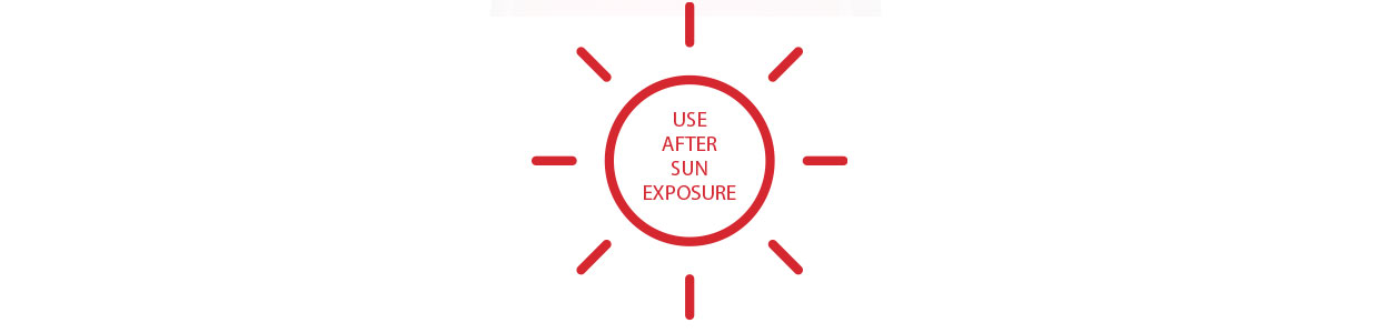 USE AFTER SUN EXPOSURE
