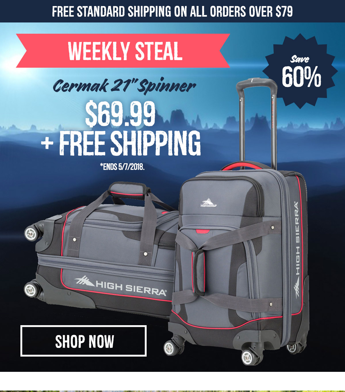 Weekly Steal! Cermak 21 Spinner $69.99 + Free Shipping - Shop Now