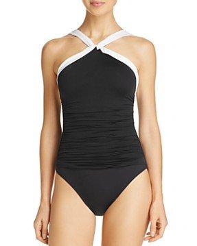 Lauren Ralph Lauren Beach High Neck One Piece Swimsuit