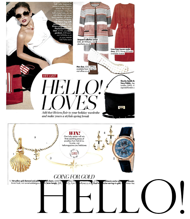 As seen in Hello! Magazine