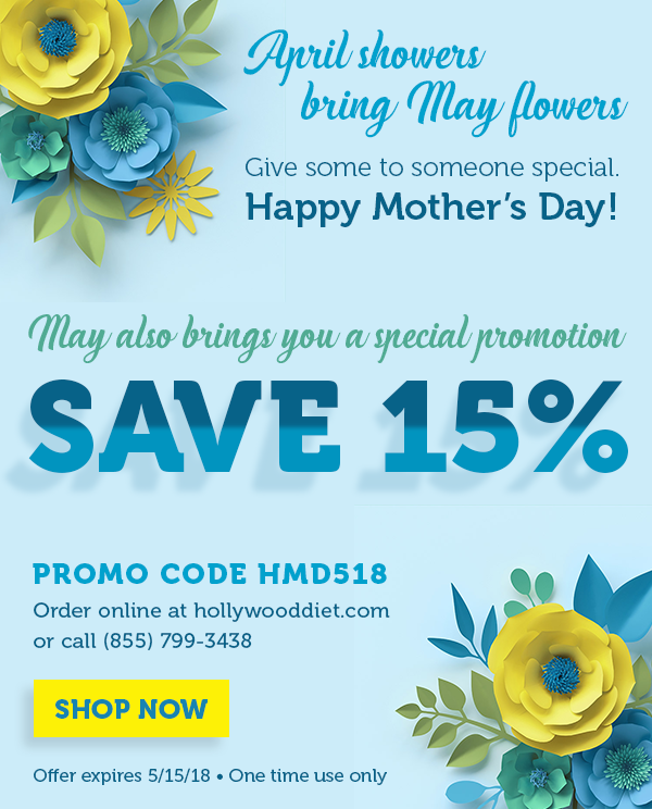 April showers bring May flowers and a special promotion. Shop Now.