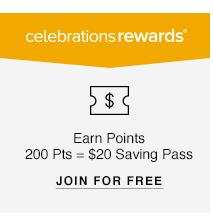 Celebrations Rewards: Earn Points