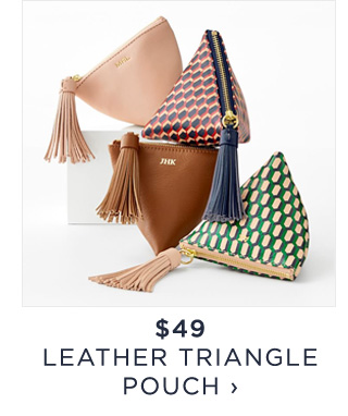 $49 - LEATHER TRIANGLE POUCH