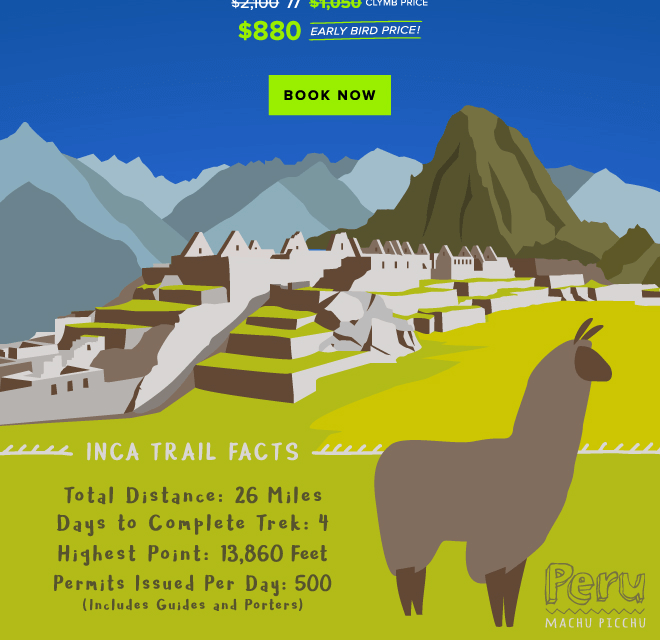 Save 58% On Your Inca Trail Trip for 2019