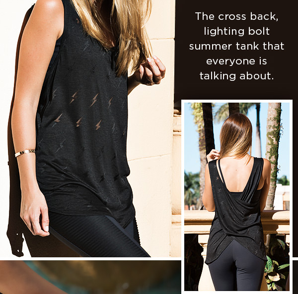 WHEN STYLE STRIKES: Get struck with style in this ultra soft mesh-cotton tank - SHOP NOW
