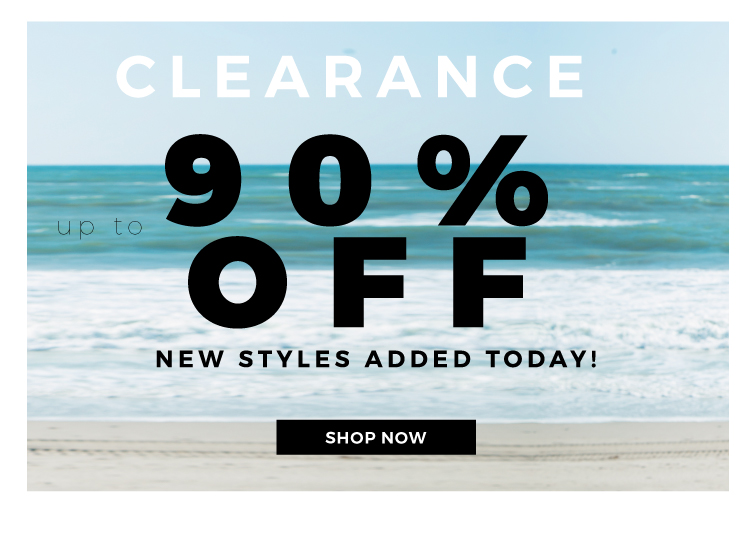 Shop Clearance up tp 90% off