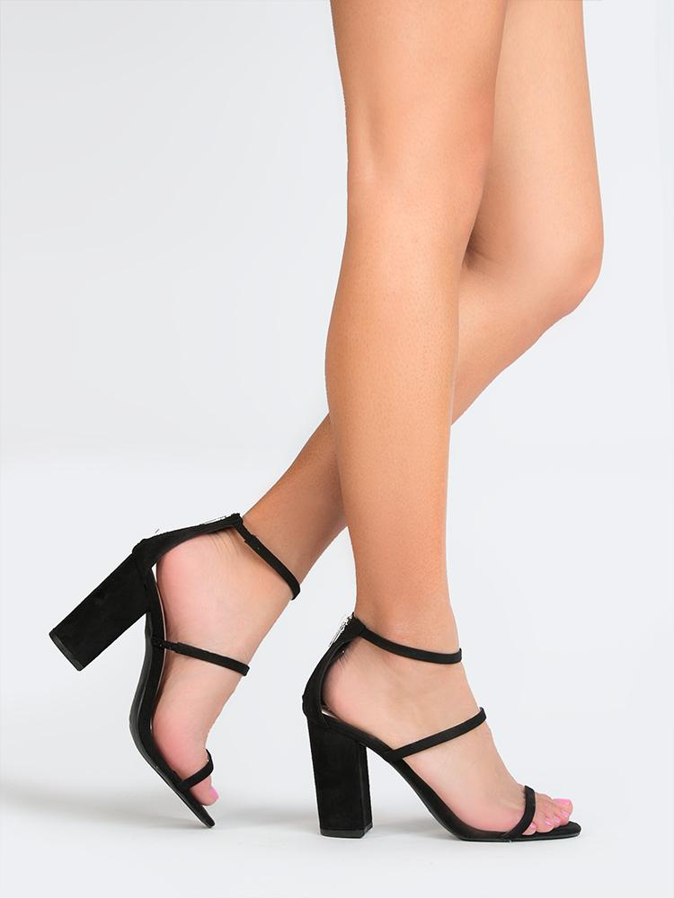 Image of Three Strap High Heel