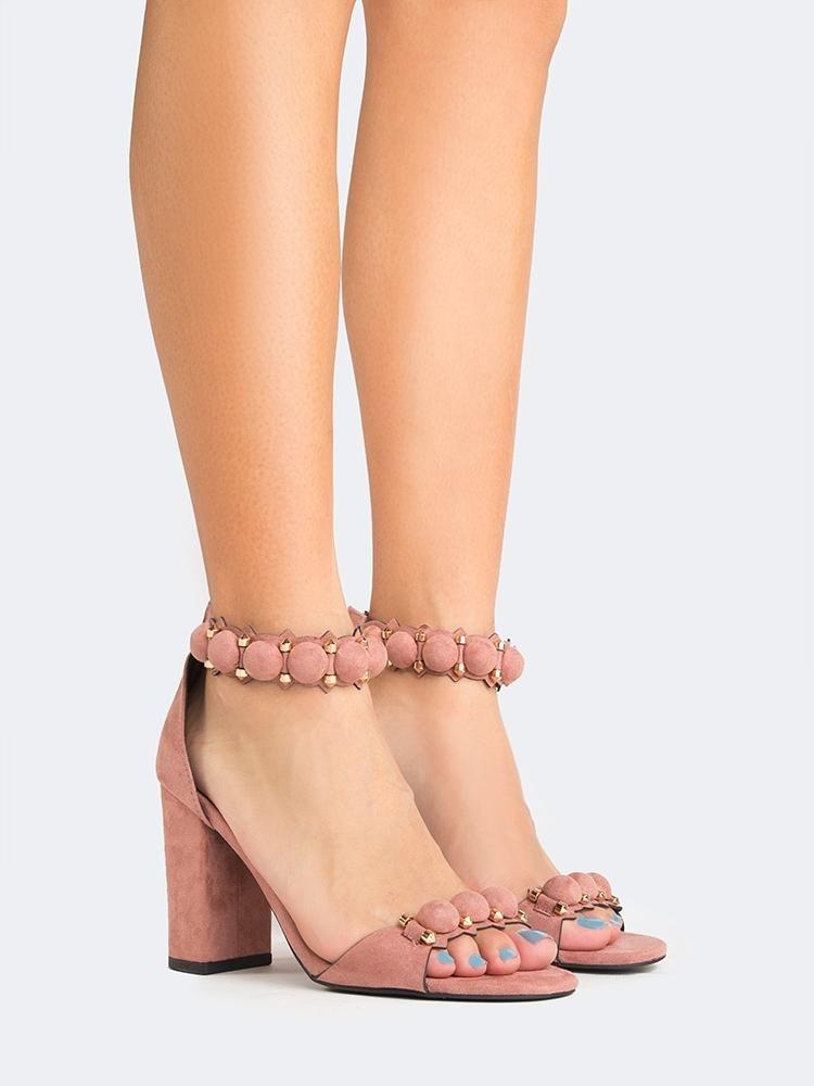 Image of Embellished Chunky Heel Sandal