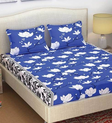 Fira Cotton Bed Sheet with 2 Pillow Covers by Azaani