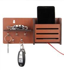 Sehaz Artworks Side-Shelf Wooden Key Holder