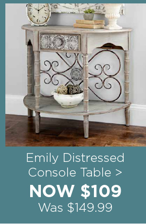 157770 Emily Distressed Console Table