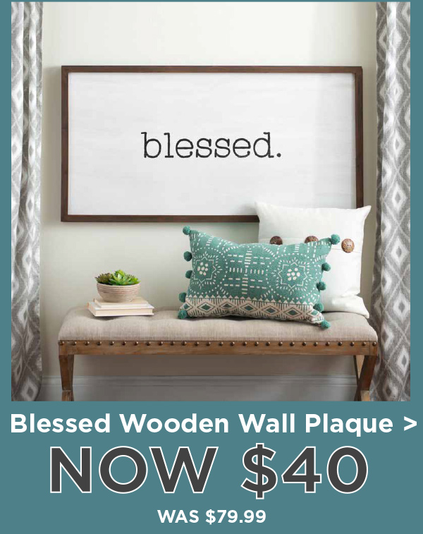 168675 Blessed Wooden Wall Plaque