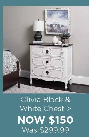 175262 Olivia Black & White Chest