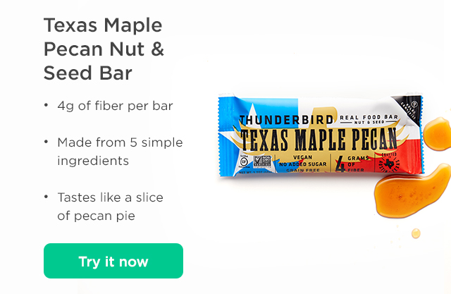 Texasa Maple Pecan Nut & Seed Bar. Try it now.