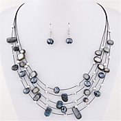 Women's Crystal Crystal Jewelry Set Earri...