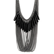 Women's Statement Necklace - Multi Layer ...
