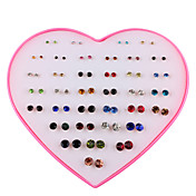 Women's 36 Pairs Stud Earrings - Fashion ...