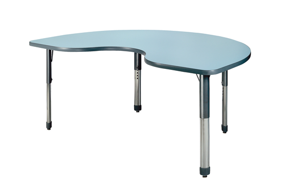 PASTEL DRY ERASE TABLE KIDNEY 48