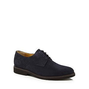 Navy suede 'Kingston' Derby shoes