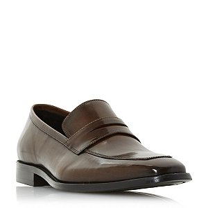 Brown 'Philipe' chisel toe saddle loafers