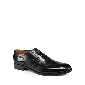 Black leather 'Lowick' brogues