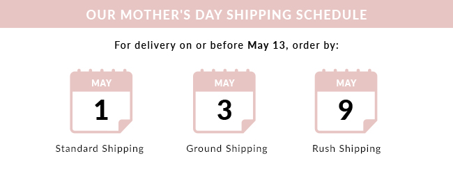 Mothers Day Shipping Schedule