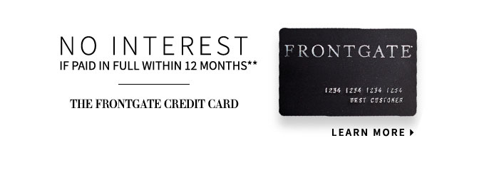The Frontgate Credit Card.