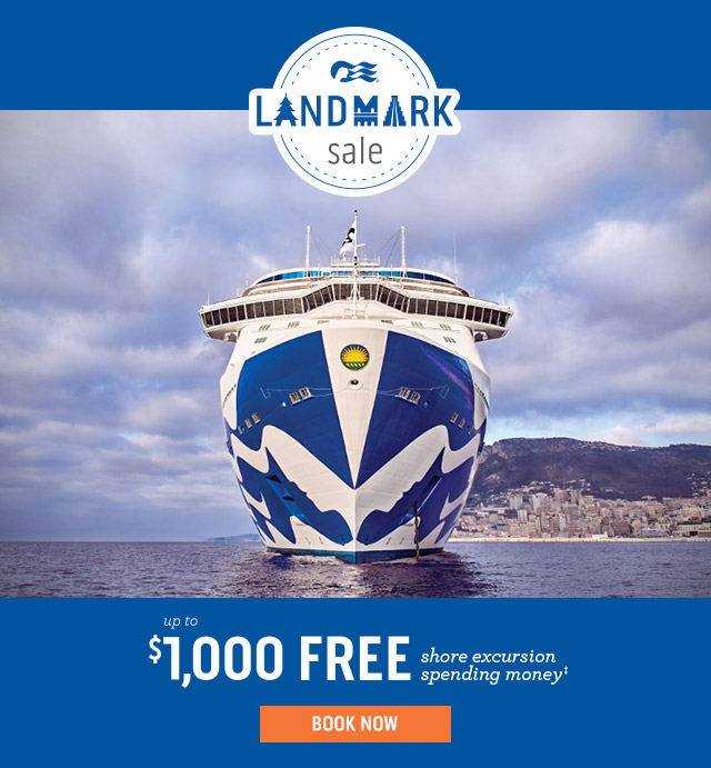 Princess Cruises LANDMARK sale
