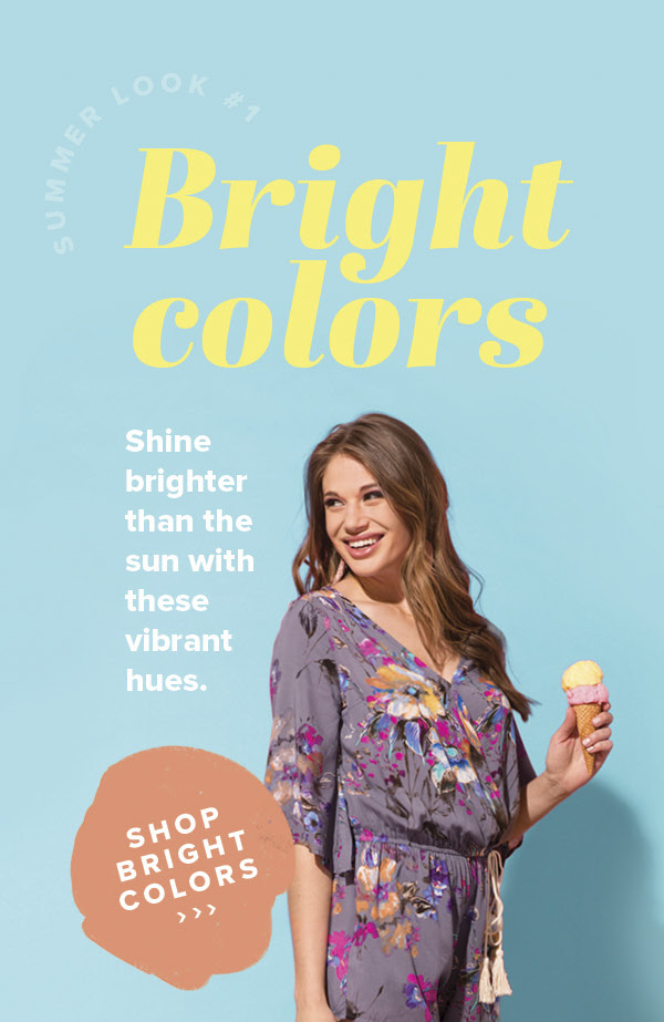 Bright Colors - Shine brighter than the sun with these vibrant hues. - Shop Bright Colors