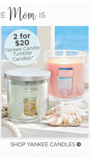 Yankee Candle 2 for $20 Yankee Candle Tumbler Candles*. Shop Yankee Candle.