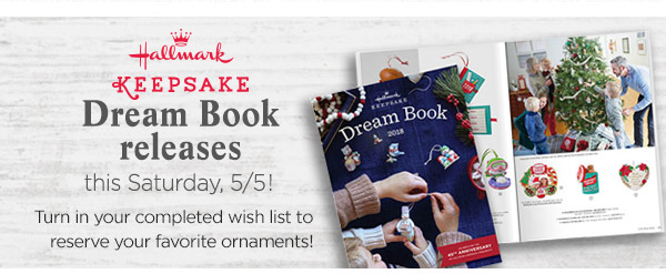 Hallmark Keepsake Dream Book releases this Saturday 5/4