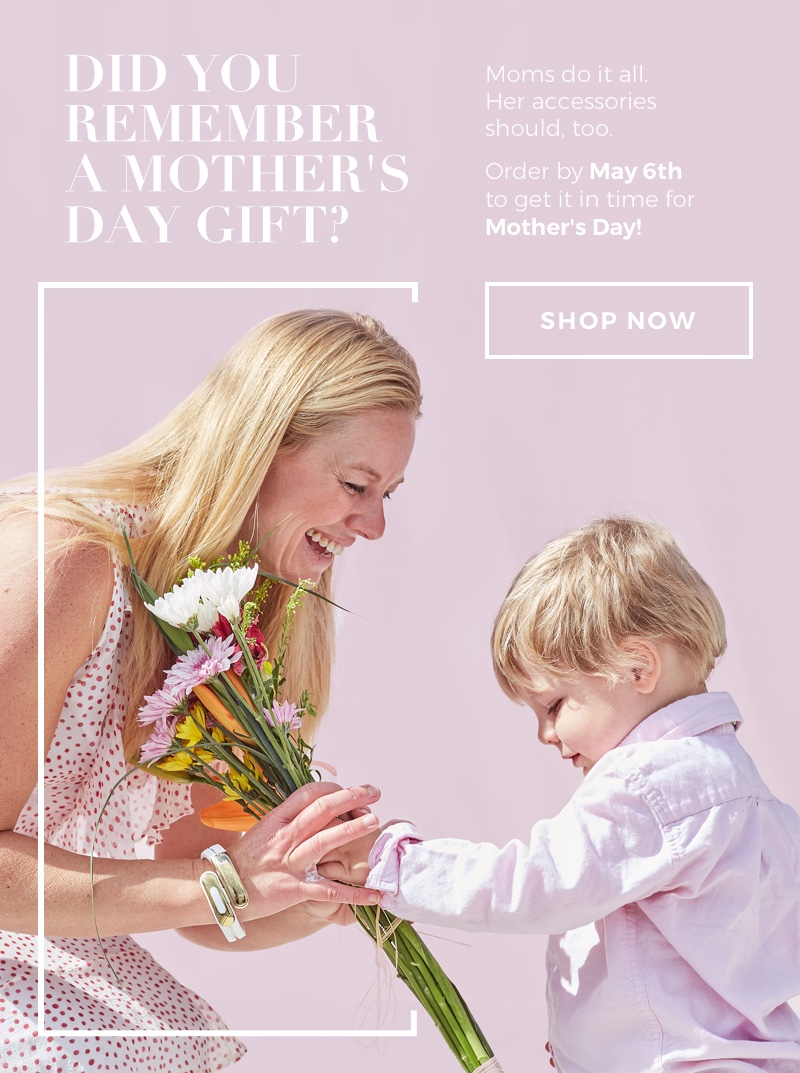 Mother's Day is May 13th!  Order before May 6th to get it on time!