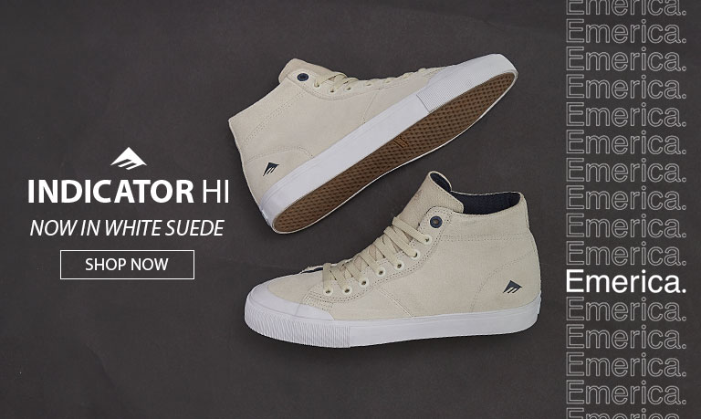 Indicator High White Suede