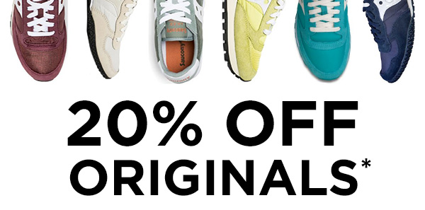20% OFF* ORIGINALS