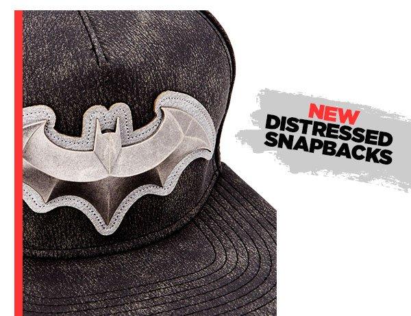 Shop Batman Distressed Snapback Hat