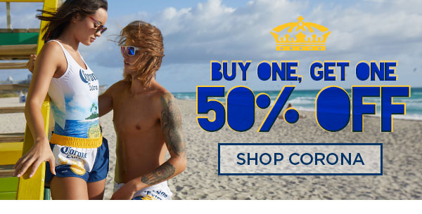 Shop BOGO 50% Off Corona