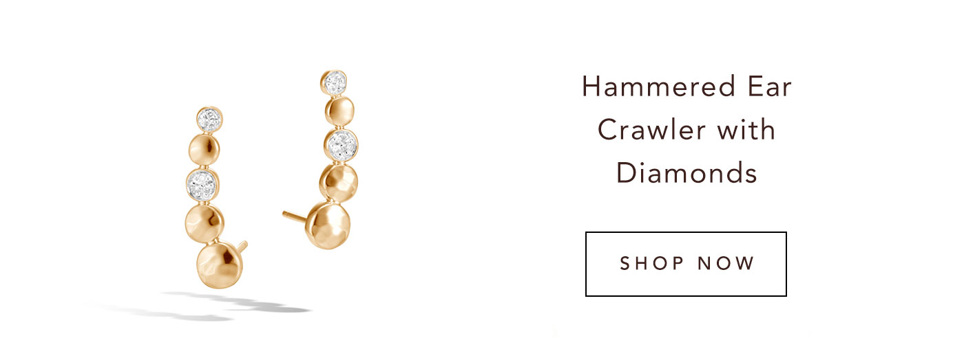 Hammered Ear Crawler with Diamonds | Shop Now