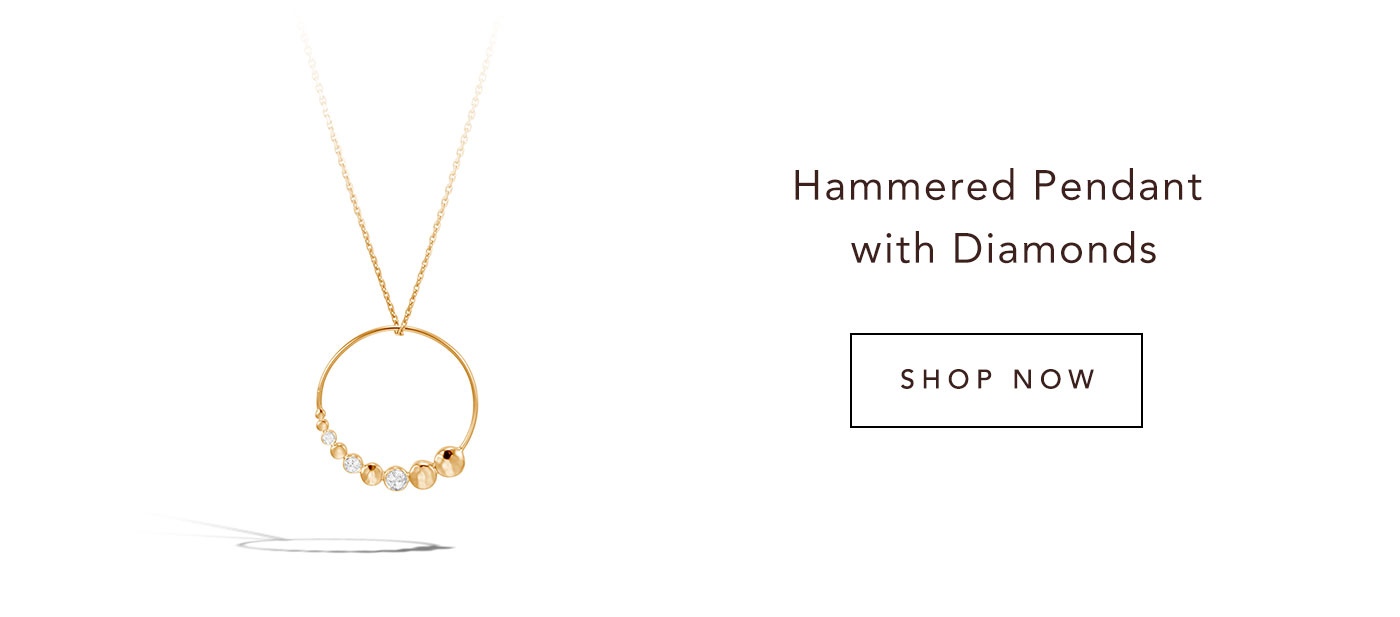 Hammered Pendant with Diamonds | Shop Now