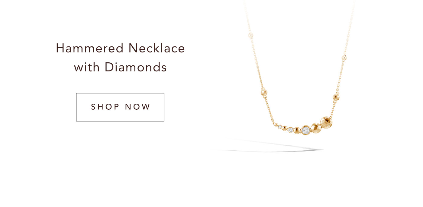Hammered Necklace with Diamonds | Shop Now