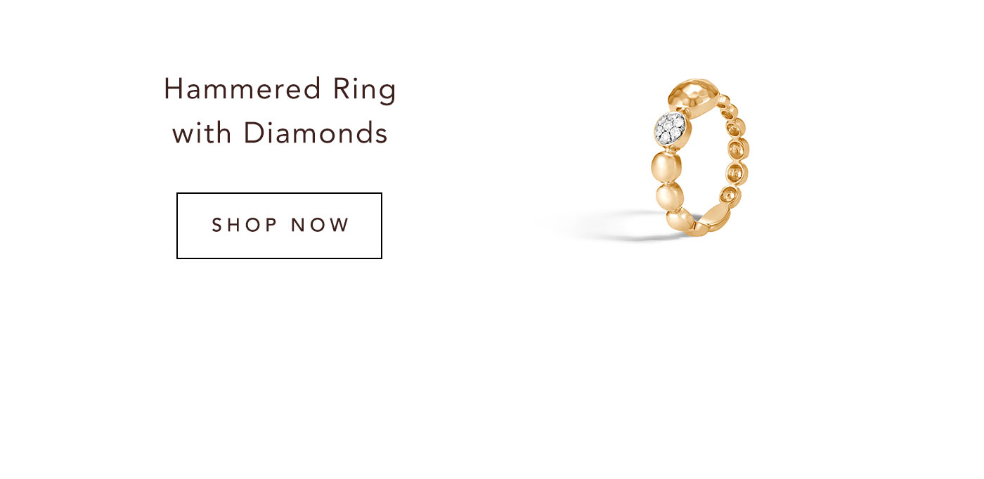 Hammered Ring with Diamonds | Shop Now