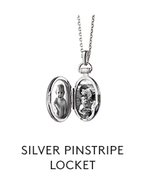 Shop the Petite Pinstripe Locket in Silver